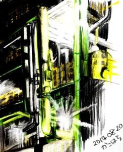 0820-1・色鉛筆画の影響2日目・加工後
