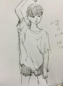 5分スケッチ・15日分